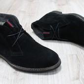 Мужские зимние ботинки Hilfiger из натуральной замши, код ks-2735