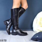 Новинка! женские замшевые/кожаные сапоги код:КК1173