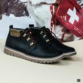 Новинка!!! зимние кожаые ботинки код:ДК 190