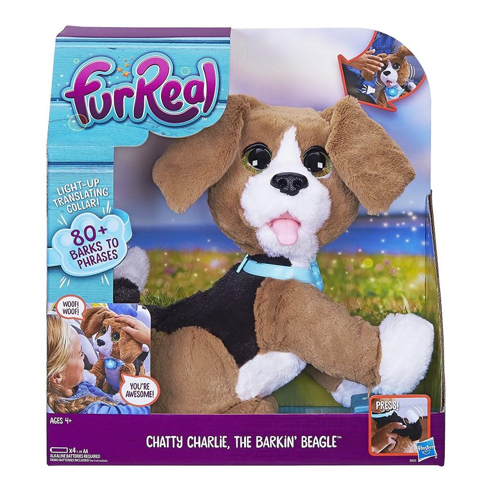 Интерактивный говорящий щенок чарли furreal chatty charlie the barkin' beagle hasbro фото №1