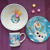 Детский набор керамической посуды 3 в 1, щенячий патруль, тачки, олаф, детская посуда