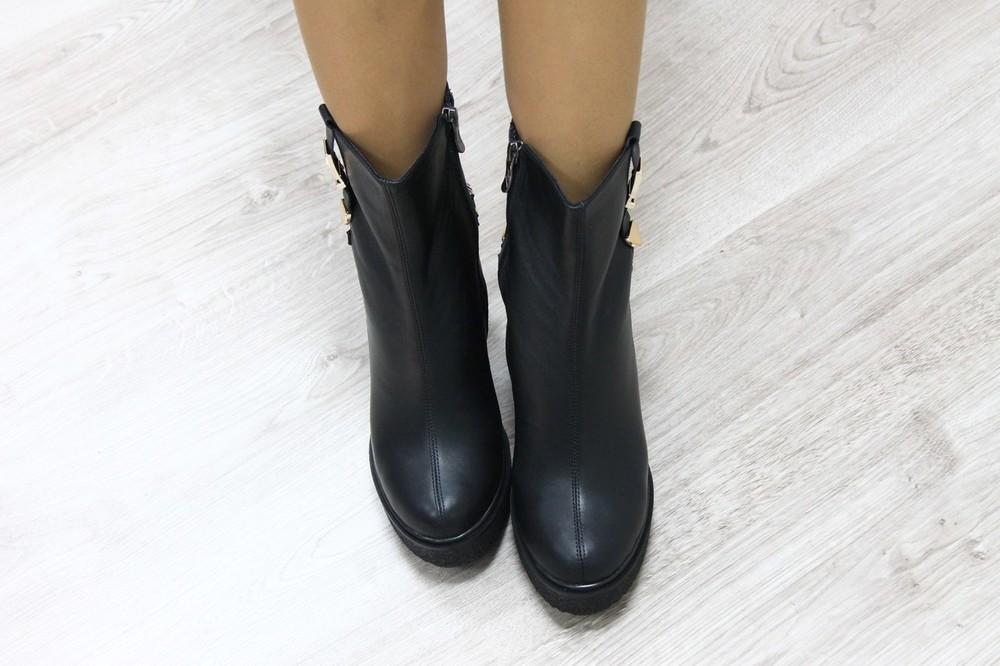 Зимние кожаные ботинки на овчине, код ks-2628w фото №2