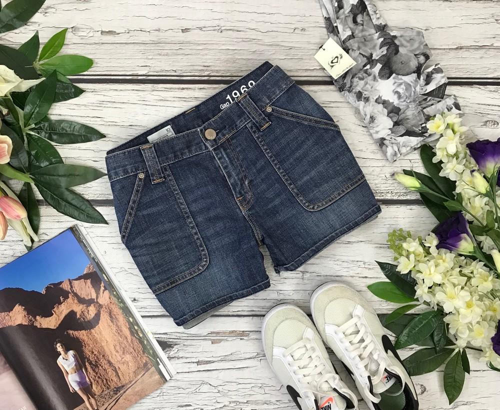 Джинсовые шорты с накладными карманами  pn1834061 фото №1