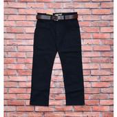 Синие и чёрные брюки в школу р. 6-12 лет. Венгрия