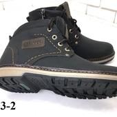 Зимние подростковые ботинки из натуральной кожи на меху, код ех-3003-2