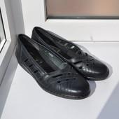 Кожаные туфли jacotur 40р 26,5см Англия