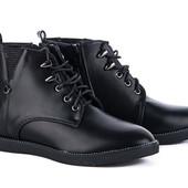 Танкетка 5 см ботинки полуботинки деми осень утеплены ботинки камни по кругу