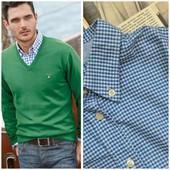 Рубашка ч/б от Gant,р.хл.В идеале! Оригинал!