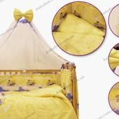 Комплект постельного для детской кровати Leonardo 8 предметов
