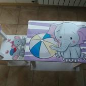 Детский столик и стульчик BS0182 Слоник