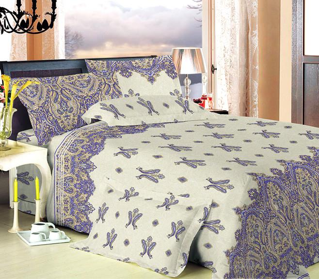 Полуторный комплект постельного белья из перкаля шахерезада 100% хлопок фото №1