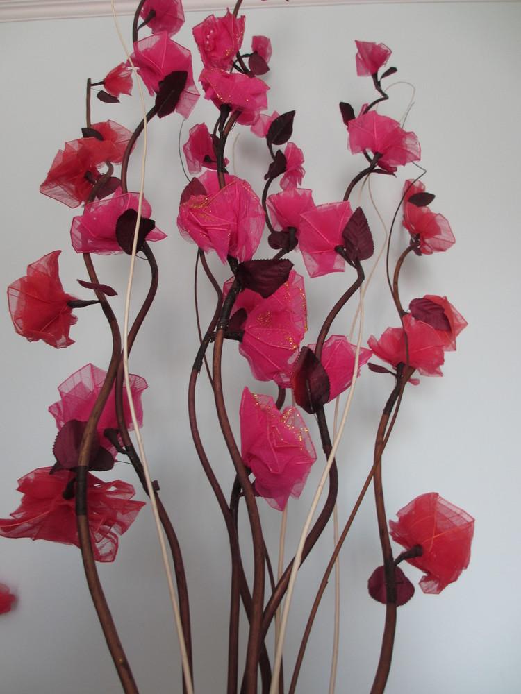Красивые большие 150см. натуральные веточки с цветами мальвы для вашего интерьера фото №1