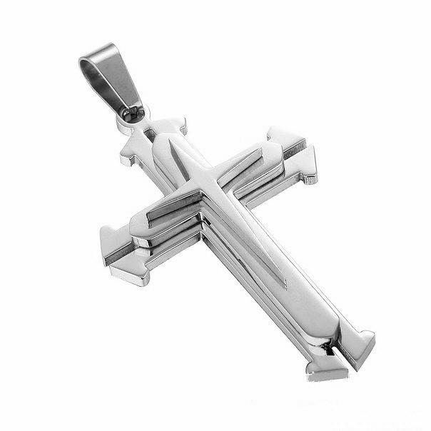 Крестик steel rage silver фото №1
