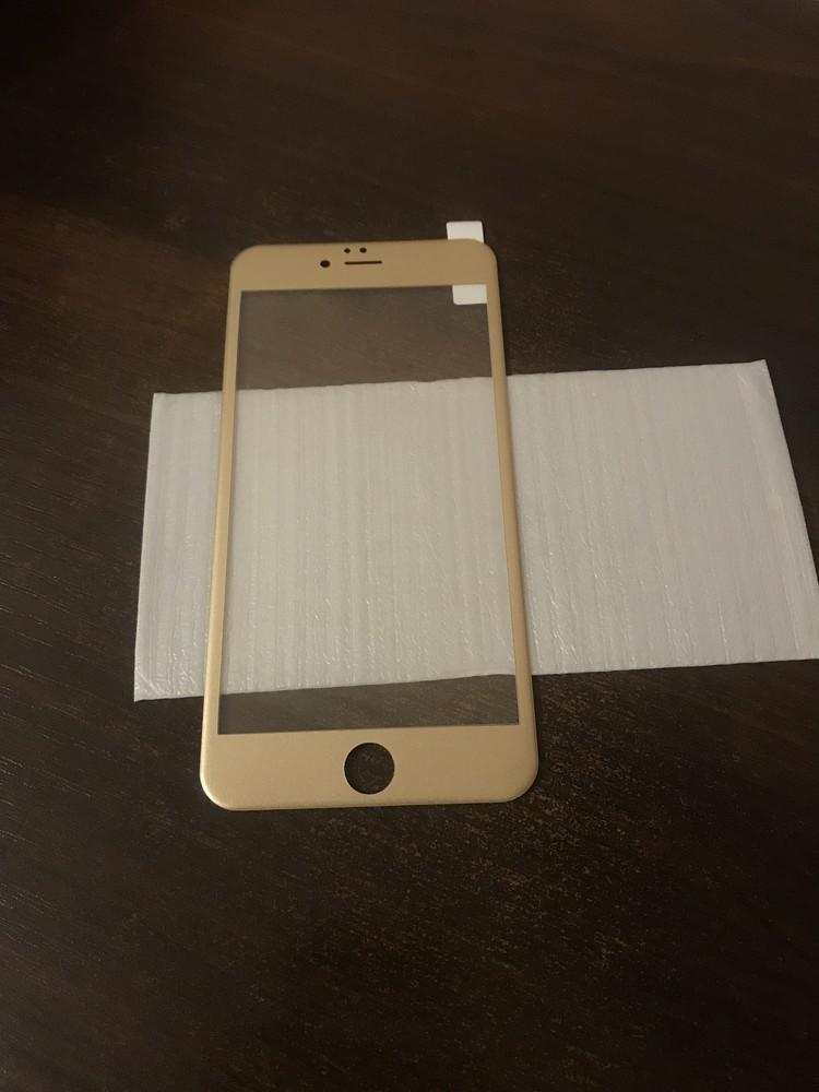 3d защитное стекло iphone 6 plus,6s plus (gold) фото №1