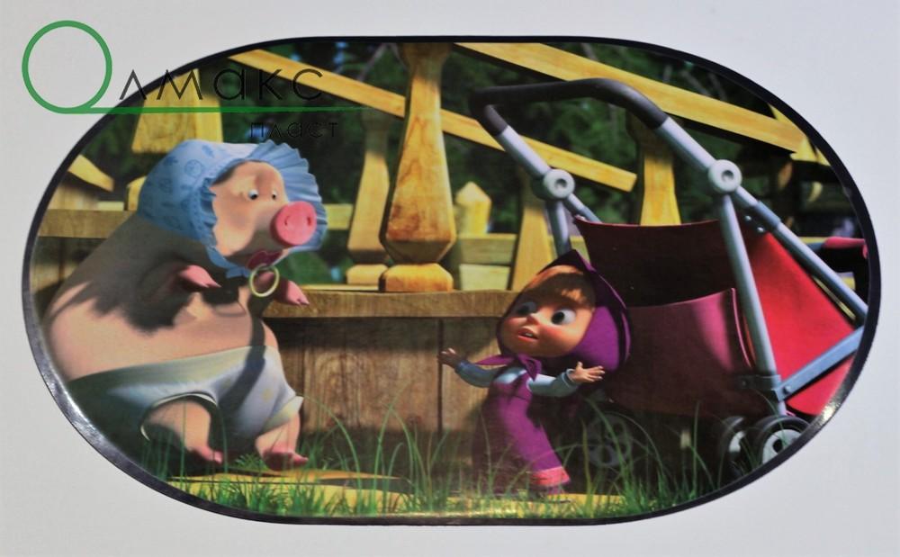 Салфетки-подложки детские для дома, детского садика, в школу (маша и медведь) фото №1