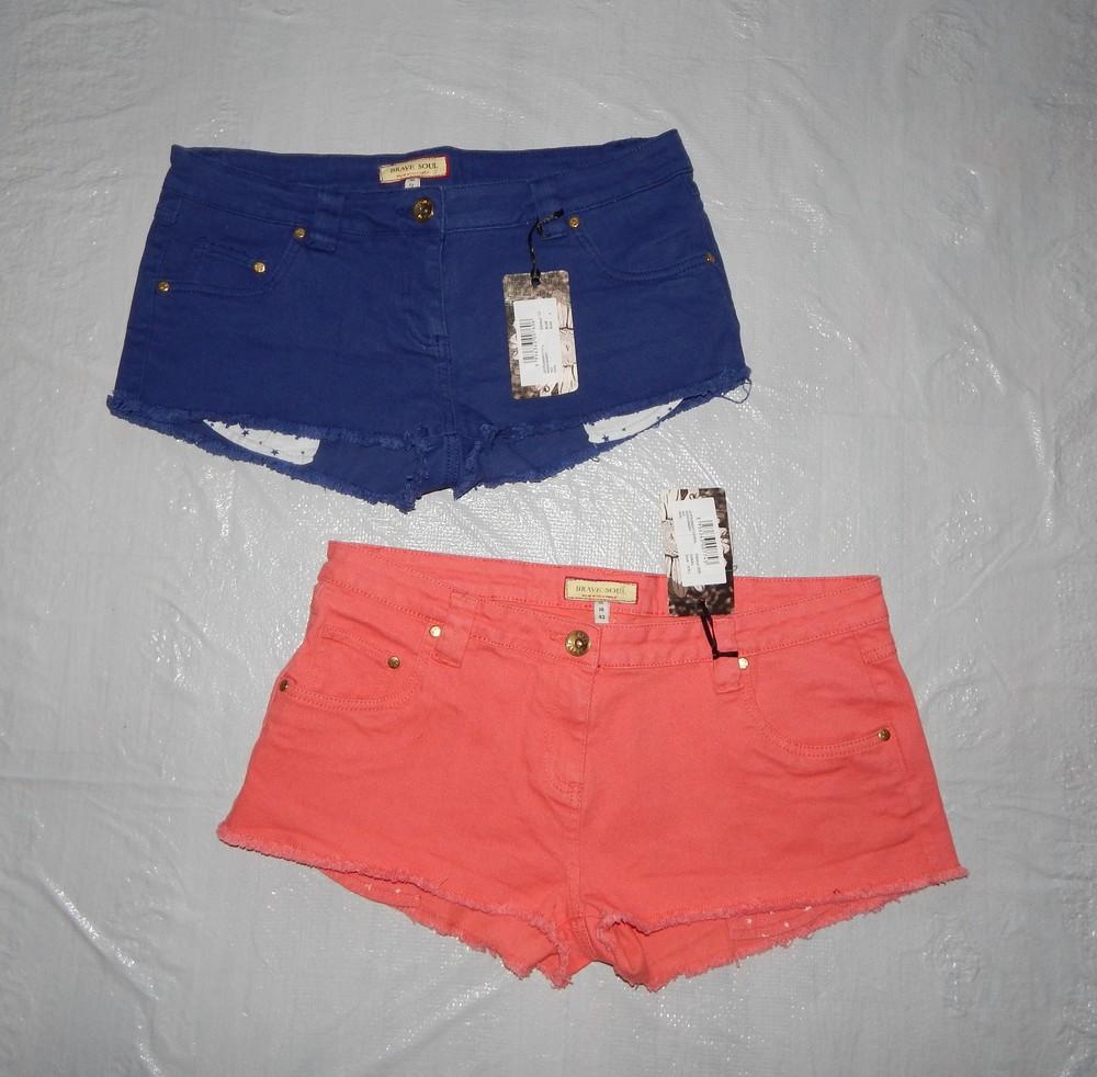 M-l, xl-2xl поб 48-50, 52-54 новые! стильные шорты brave soul, великобритания фото №1