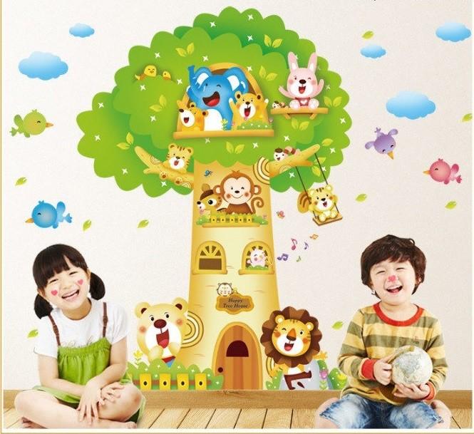 Интерьерная наклейка на стену домик на дереве фото №1