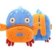 Рюкзак велюровый Blue Crab Berni