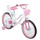 Двухколесный велосипед на девочку на 16 и 20 д TZ-006 розовый с корзинкой