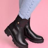 Женские демисезонные высокие ботинки