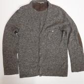 Фирменный шерстяной свитер кофта M