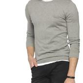 светло-серый мужской свитер LC Waikiki / ЛС Вайкики с карманом на груди