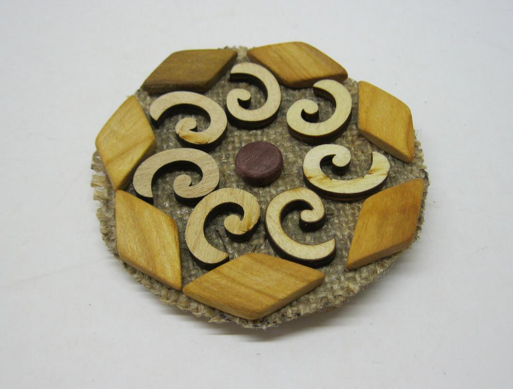Дерев'яна підставка під гарячу кружку фото №1