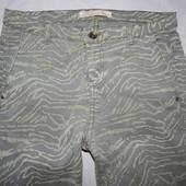 S-M, поб 46-48, узкачи! укороченные скинни брюки Zara оригинал!