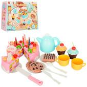 Подарочный набор торт на липучке , свечки, сладости, посудка