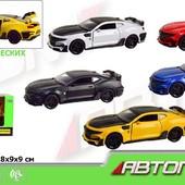 7645 машинка игровая автопром Chevrolet Camaro 4 цвета