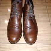 Кожаные фирменные ботинки Uk10 44
