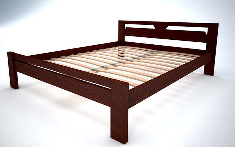Двуспальная кровать из дерева. полуторная деревянная кровать односпальная. ліжко з дерева фото №1