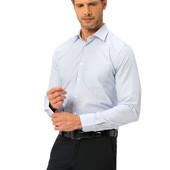 мужская рубашка белая LC Waikiki в голубую полоску
