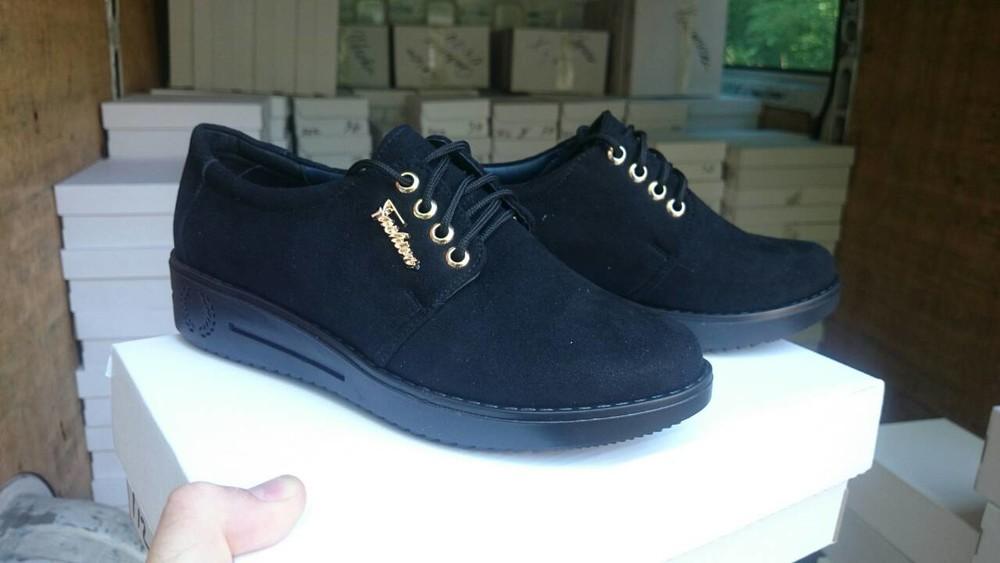 Молодежные замшевые туфли на платформе. днепр. фото №1