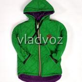 Детская демисезонная куртка для девочки зелёный 2-4 лет 4025