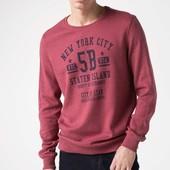 бордовый мужской свитшот De Facto / де факто с надписью на груди New York City