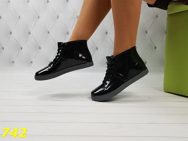 37-38 размеры резиновые ботинки непромокаемые модельные фото №2