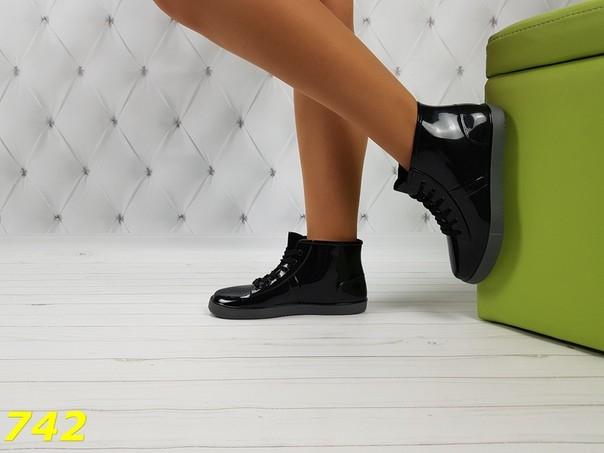 37-38 размеры резиновые ботинки непромокаемые модельные фото №3