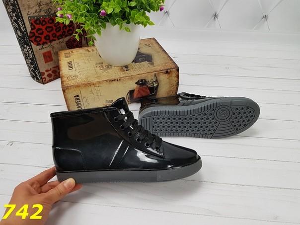 37-38 размеры резиновые ботинки непромокаемые модельные фото №4