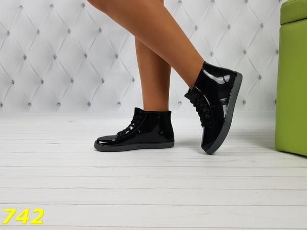 37-38 размеры резиновые ботинки непромокаемые модельные фото №5