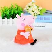 Милая плюшевая Свинка Пеппа Peppa Pig, 19 см, новая