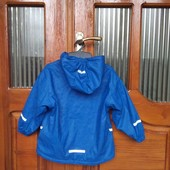 Фирменная прорезиненая куртка на флисе impidimpi 98-104. 3-4 года