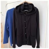Теплая кофта пальто с капюшоном French connection pp Л