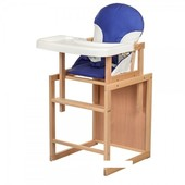 Стульчик для кормления деревяный Bambi CH-L1 синий