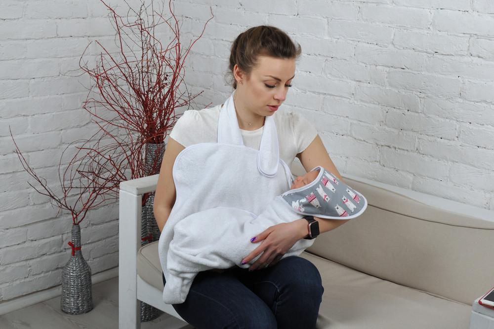 Полотенце для купания малыша для новорожденного фото №1