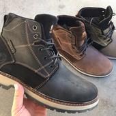 Зимние кожаные ботинки, 3 цвета