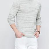 серый мужской свитер LC Waikiki / ЛС Вайкики с карманом на груди, меланжевый