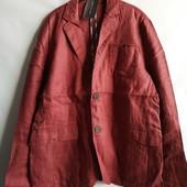 Льняной мужской пиджак блейзер французского бренда Promod