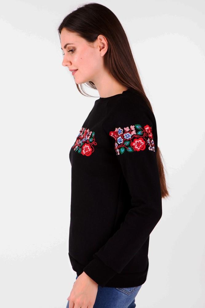 Світшот жіночий з дизайнерською вишивкою фото №2