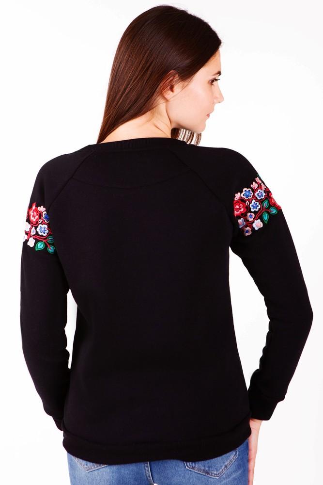 Світшот жіночий з дизайнерською вишивкою фото №3
